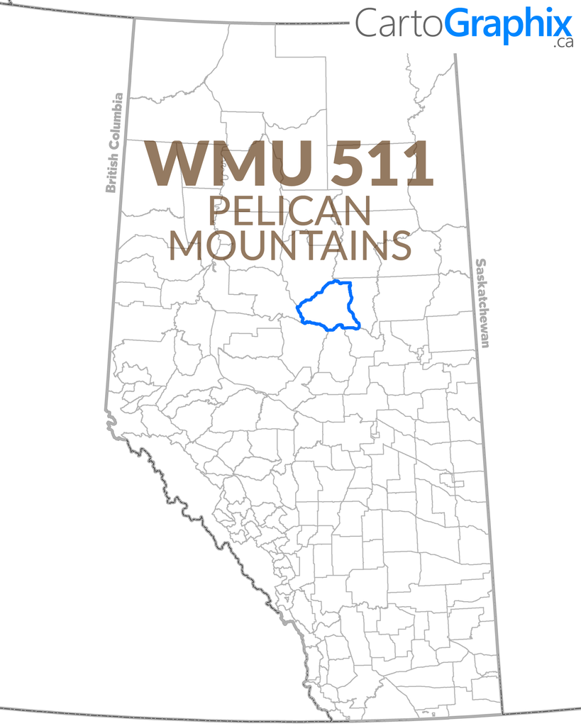 WMU 511 Pelican Mountains Map