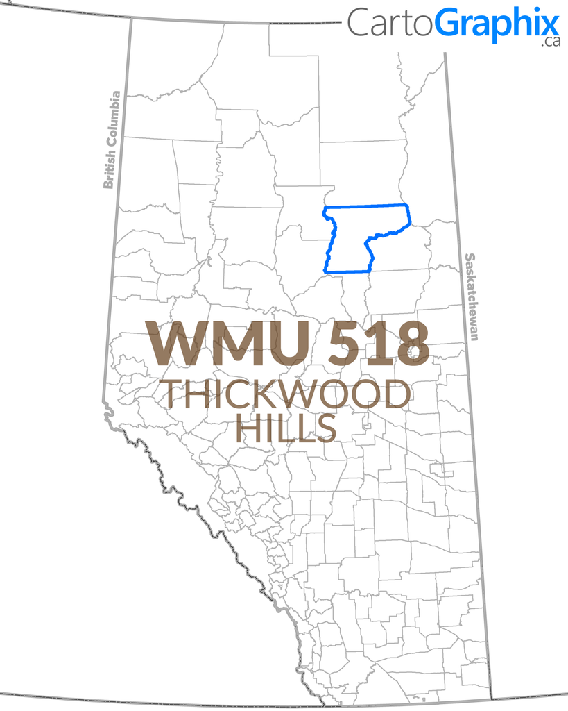 WMU 518 Thickwood Hills Map