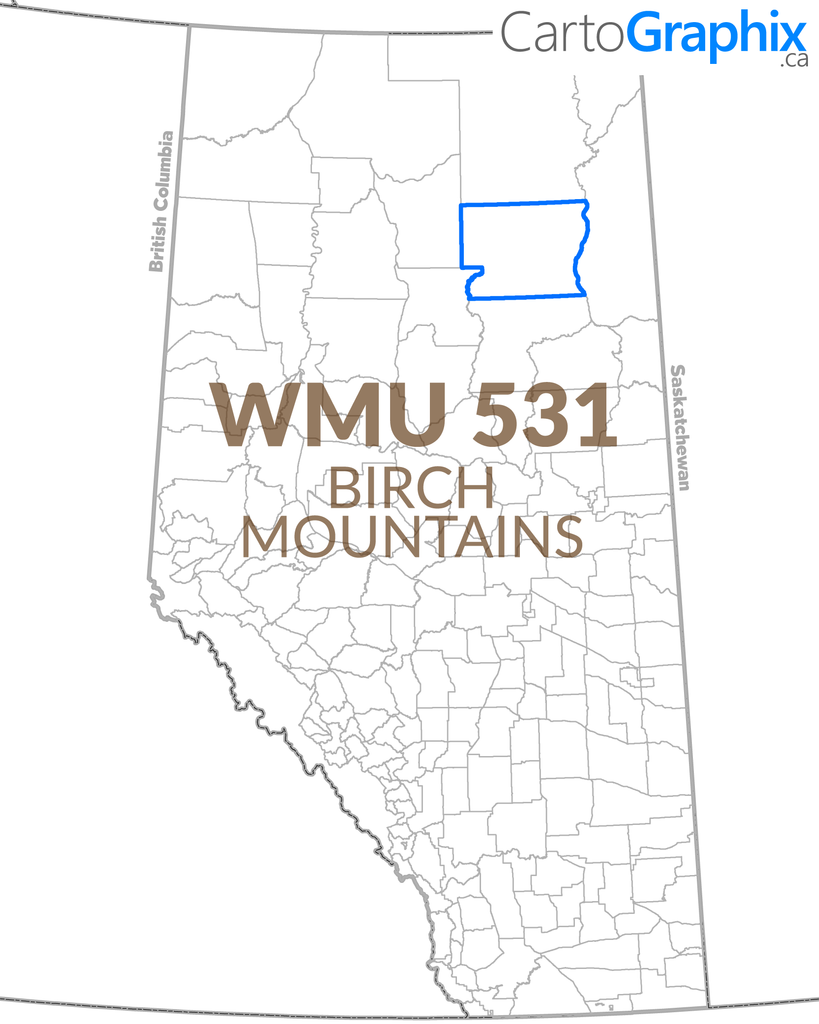Wmu 531 Birch Mountains 36w X 24h Cartographix