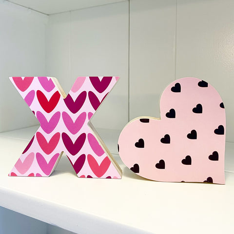 Home Line - XO - Pink Hearts + Black Hearts