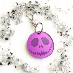 Jack Skellington Key Chain - Mirrored Purple