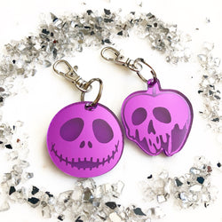 Combo Jack Skellington + Poison Apple Key Chain - Mirrored Purple