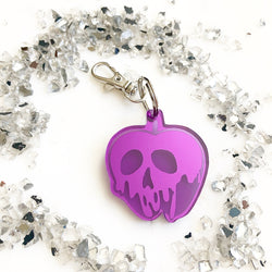 Poison Apple Key Chain - Mirrored Purple
