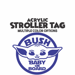 Yoda Baby on Board Stroller Tag