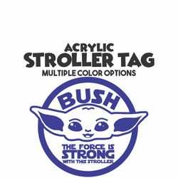 Yoda The Force Stroller Tag