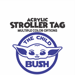 Yoda The Child Stroller Tag