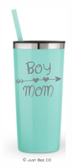Boy Mom Heart Arrow