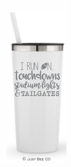 I Run On Football Stadium Lights and Tailgates
