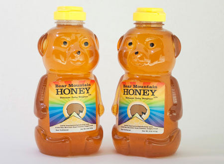 2lb Raw Oregon Wildflower Honey Bear