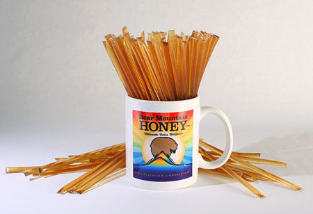 Bear Mountain Honey Coffee Mug with Sticks