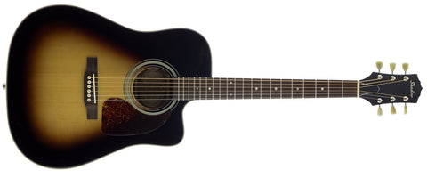 JM CA 44 Thinline Steel String Acoustic/ Electric Guitar