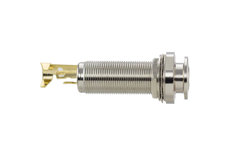 "1/4"" Stereo endpin jack - solder joint (chrome)"