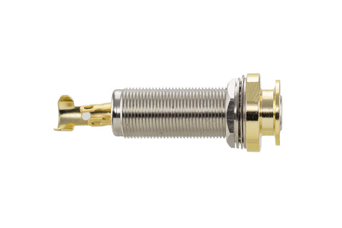 "1/4"" Stereo endpin jack - solder joint (gold)"