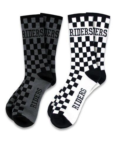 Loose Riders Checkers Socks Pack of 2