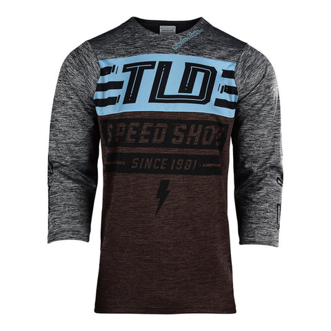 518ea1f81 Troy Lee Designs Ruckus Bolt Heather Grey Moka Jersey