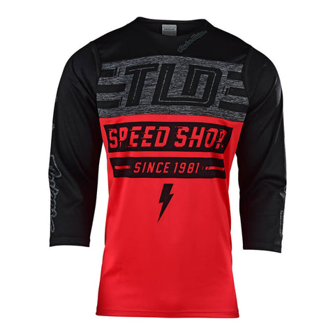 Troy Lee Designs Ruckus Bolt Black Red Jersey