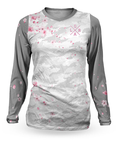 Loose Riders Sakura Grey Women Longsleeves Jersey