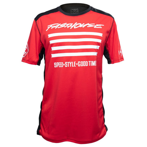 FASTHOUSE BIKE JERSEY FASTLINE SLASH SHORT SLEEVES RED