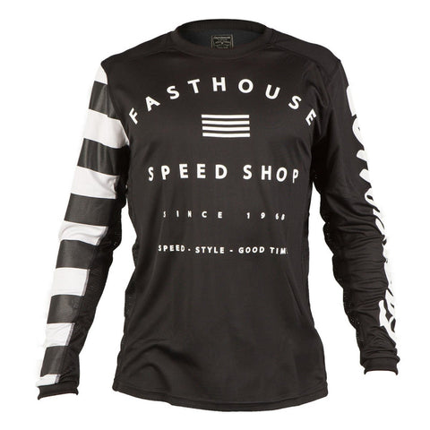 the fasthouse bikewear. Black and white mountain bike jersey for downhill, freeride and more.