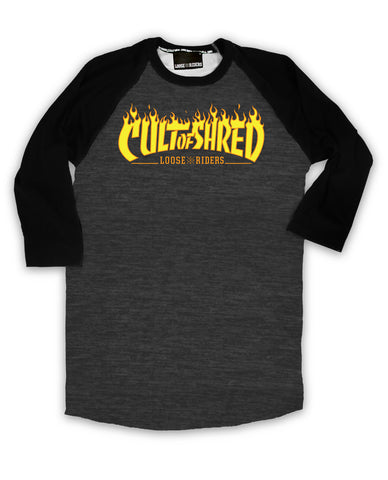 Loose Riders Cult of Shred Heather Raglan Pre-order