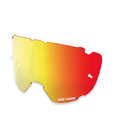 Loose Riders Goggles Lenses Orange Mirror