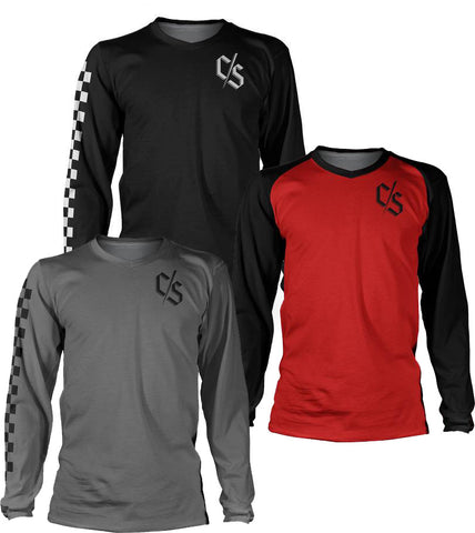 Loose Riders Bundle 3 Jerseys CS Red/Check Black/Check Grey ALL SIZES