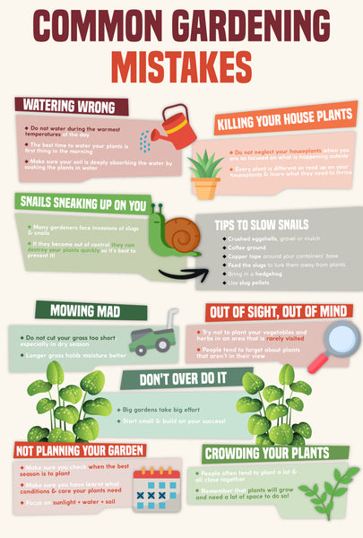 Common gardening mistakes | Infographic | Pot Shack