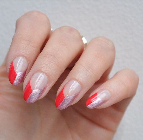 Two-colour french tips