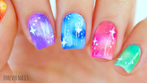 Rainbow galaxy nails