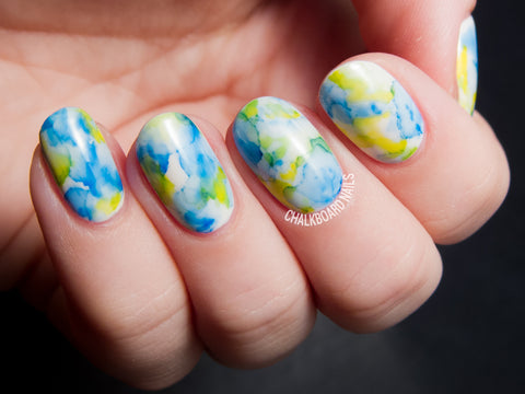 Marbled sharpie nails
