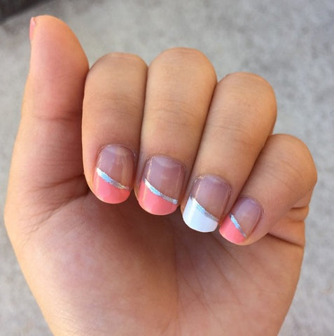 Diagonal french nails