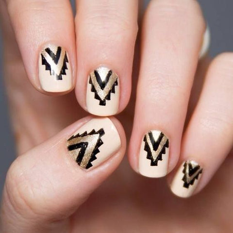 Tribal chevron nails