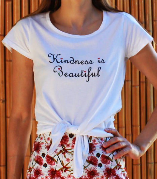 Kindness is Beautiful print t-shirt front