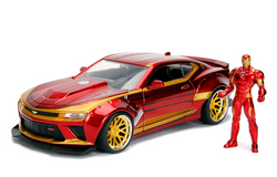 1:24 2016 Iron Man Chevy Camaro Diecast & Figure