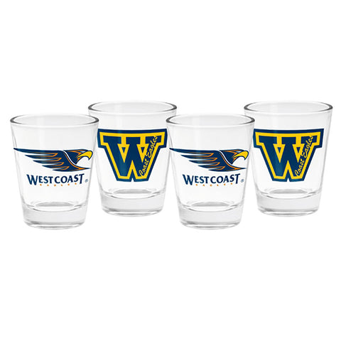 WC Eagles 4 Pack Shot Glasses