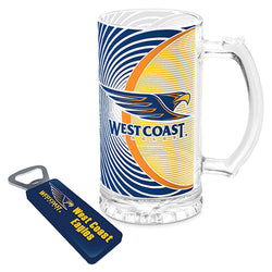WC Eagles Stein And Bottle Opener