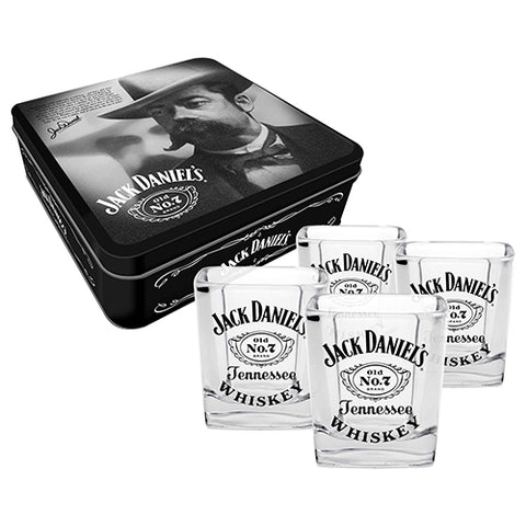 Jack Daniel's Spirit Glasses in a Collector's Tin
