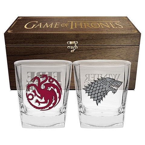 Game Of Thrones Set Of 2 Glasses In Case Game Giant
