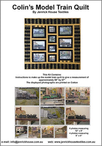 QK001-Colin's Model Train Quilt