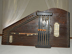 Early stringed musical instrument fabric panel