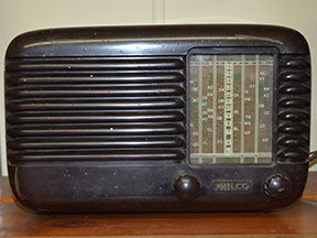 Philco radio Fabric Panel