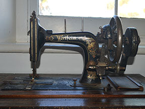 Wertheim sewing machine fabric panel