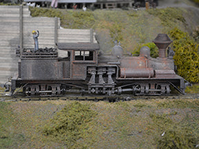 Shay locomotive model train