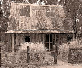 Old Tailem House in sepia