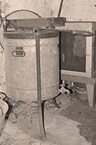 Washing machine in sepia