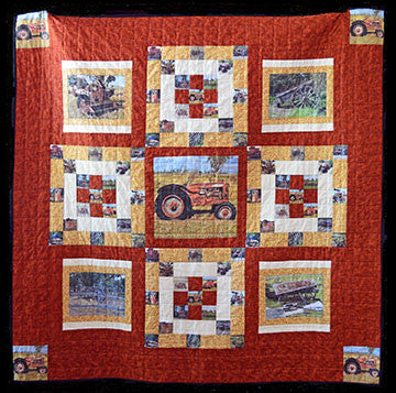 QK003-Rustic Machinery Quilt Kit