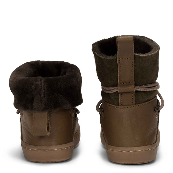Kinder Leder Moon Boot Moss von Birds of Nature bei Yay Kids