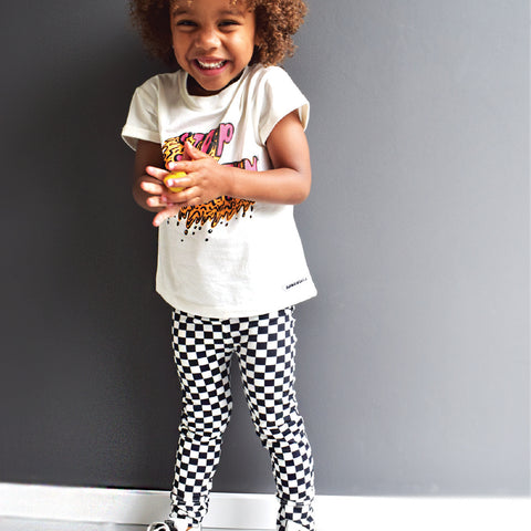 Kinder Leggings Block kariert von Ammehoela bei Yay Kids