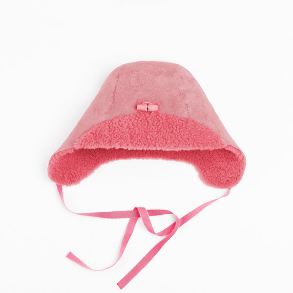 Toasties Paris Baby Lammfellmütze Pink bei Yay Kids