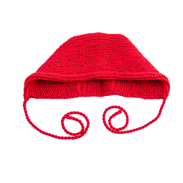 Strick Bonnet Baby Knit Bonnet Cranberry von Yay Kids